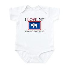 I Love My Wyoming Boyfriend Infant Bodysuit