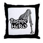 BAGPIPE HERO Throw Pillow