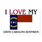 I Love My North Carolina Boyfriend Postcards (Pack