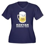 Kenyan Drinking Team Women's Plus Size V-Neck Dark