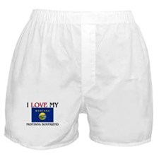 I Love My Montana Boyfriend Boxer Shorts