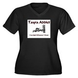 Tayra Addict Women's Plus Size V-Neck Dark T-Shirt