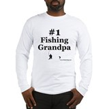 &amp;quot;#1 Fishing Grandpa&amp;quot; Long Sleeve T-Shirt