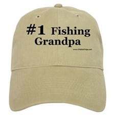 """#1 Fishing Grandpa"" Ball Baseball Cap"