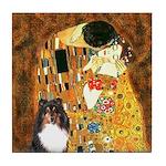 Kiss/Tri Color Sheltie Tile Coaster