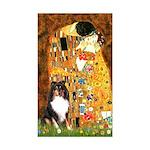 Kiss/Tri Color Sheltie Sticker (Rectangle 50 pk)