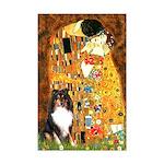 Kiss/Tri Color Sheltie Mini Poster Print