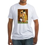 Kiss/Tri Color Sheltie Fitted T-Shirt