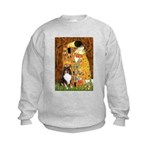 Kiss/Tri Color Sheltie Kids Sweatshirt
