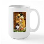 Kiss/Tri Color Sheltie Large Mug