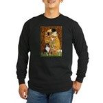 Kiss/Tri Color Sheltie Long Sleeve Dark T-Shirt