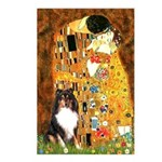 Kiss/Tri Color Sheltie Postcards (Package of 8)