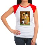 Kiss/Tri Color Sheltie Women's Cap Sleeve T-Shirt