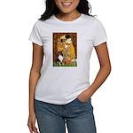 Kiss/Tri Color Sheltie Women's T-Shirt