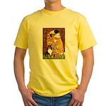 Kiss/Tri Color Sheltie Yellow T-Shirt
