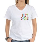 Best Daddy Women's V-Neck T-Shirt