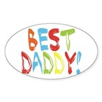 Best Daddy Oval Sticker