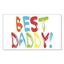 Best Daddy Rectangle Decal
