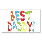 Best Daddy Rectangle Sticker