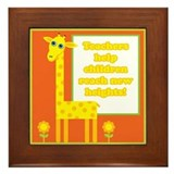 Cute Teacher Gift Framed Tile