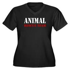Animal Rescue Team Women's Plus Size V-Neck Dark T