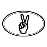 Peace Sign Oval Decal