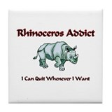 Rhinoceros Addict Tile Coaster
