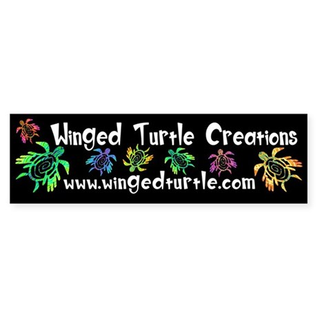 Winged Turtle Sticker (Bumper)