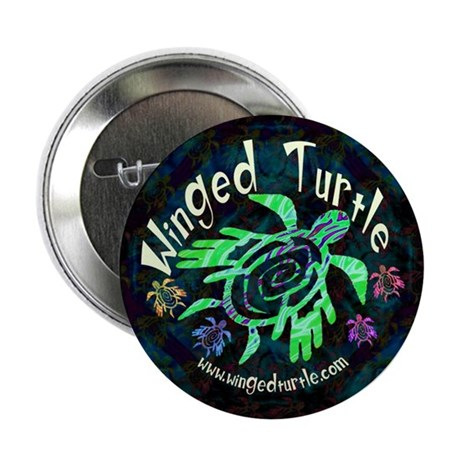 "Winged Turtle 2.25"" Button"