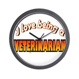 I Love Being a Veterinarian Wall Clock