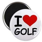 I LOVE GOLF Magnet