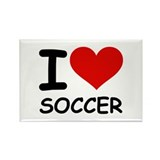 I LOVE SOCCER Rectangle Magnet (10 pack)