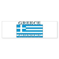 Greece Greek Flag Bumper Bumper Sticker