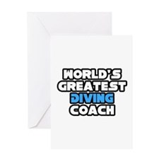 """Greatest Diving Coach"" Greeting Card"