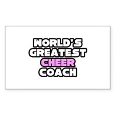 """Greatest Cheer Coach"" Rectangle Decal"