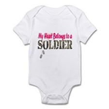 Heart Belongs to Soldier Infant Bodysuit