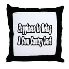 """Happiness: Cross Country"" Throw Pillow"