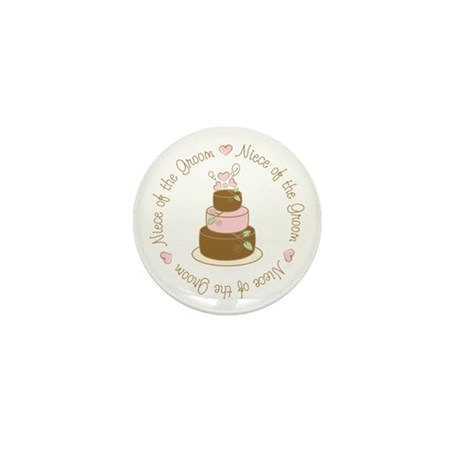 Niece of the Groom Cake Mini Button (10 pack)