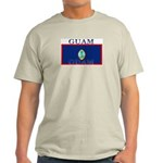 Guam Guaminian Flag Ash Grey T-Shirt