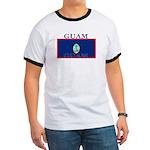 Guam Guaminian Flag Ringer T