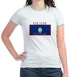 Guam Guaminian Flag Jr. Ringer T-Shirt