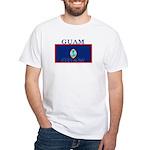 Guam Guaminian Flag White T-Shirt
