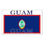 Guam Guaminian Flag Rectangle Sticker