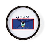 Guam Guaminian Flag Wall Clock