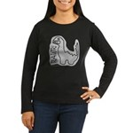 RAWR DINO Women's Long Sleeve Dark T-Shirt