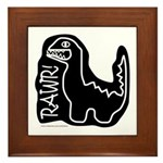 RAWR DINO Framed Tile