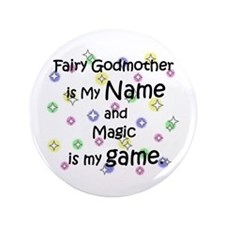 "Fairy Godmother Name 3.5"" Button (100 pack)"