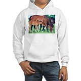 Mares and foals grazing Jumper Hoody