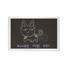 Blame the Cat Rectangle Magnet (100 pack)