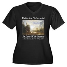UU Love Bierstadt Women's Plus Size V-Neck Dark T-